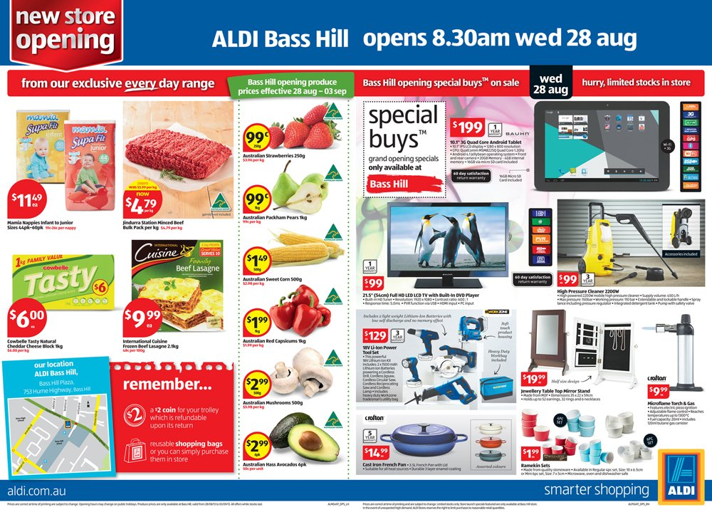 Aldi Catalogue - Artwork folio - Advert ideas