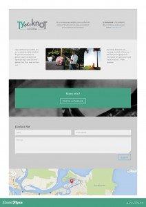 Ty the Knot website design - Sunshine Coast