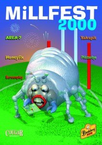 Festival poster based on the Millennium bug - y2k end of the world