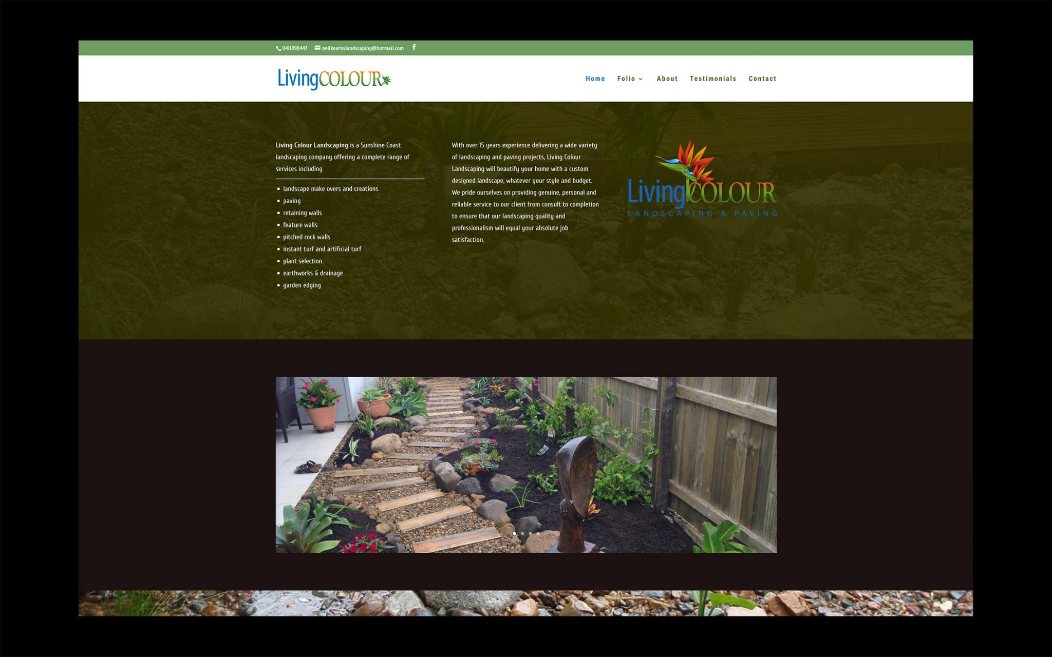 Ordinaire Living Colour Landscaping U2013 Advert Ideas. Landscape Website Sunshine Coast