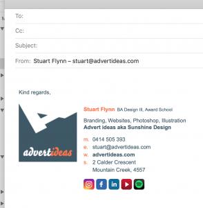 email signature sunshine coast